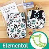 Doodles Collection: bumGenius Elemental 3.0 All-In-One Cloth Diaper with Organic Cotton (PAWsome)