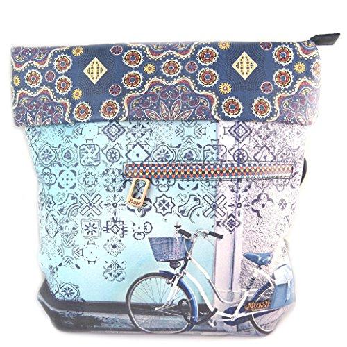 Designer-tasche Mundiblau (radfahren)- 33x31x10 cm. crJXUQNmd