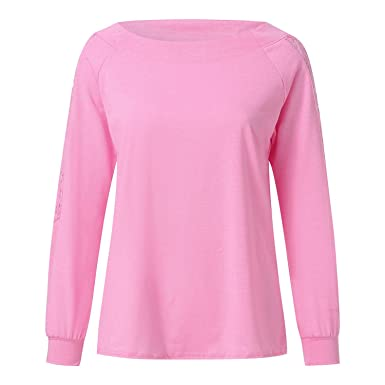 0ed6167c181c2e Long Sleeve Lace Tops Blouses Ladies Solid Lace Trimmings Hollow Out ...