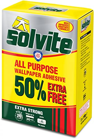 10 Rolls Solvite Extra Strong All Purpose Wallpaper Adhesive