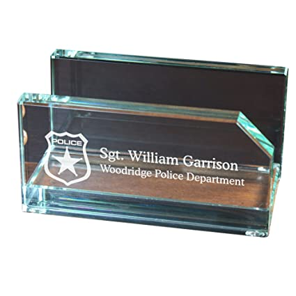 Amazon personalized police officer business card holder 2 x 4 personalized police officer business card holder 2quot x 4quot reheart Image collections