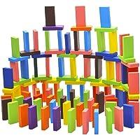 Okayji Wooden Dominoes Domino 12 Colors Set, 120-Pieces, Multicolour
