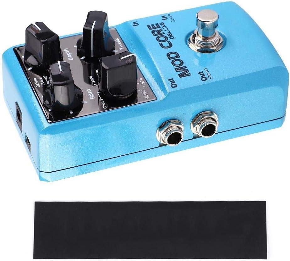 Rockyin Coro modo NUX Core Deluxe Pedal Flanger 8 Efectos guitarra con True Bypass