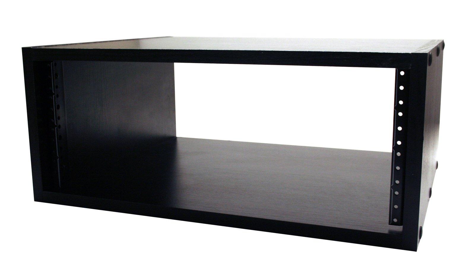 Gator Cases Wooden Studio Rack; 4U Size with 15.25'' Depth - Black (GR-STUDIO-4U) by Gator