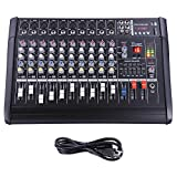 AW 10 Channel 2000 Watt Professional Powered Mixer w/ USB Slot Power Mixing 13x19x5'' 110V