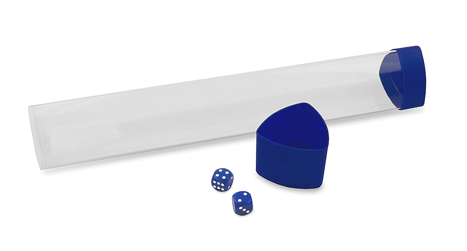 Blue Playmat Tube with Dice Cap 1 Tube