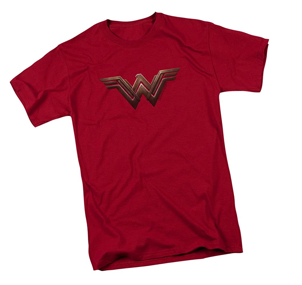 9338b4bc 100% Cotton Machine washable. Officially licensed DC Comics merchandise.  Modern Wonder Woman logo on the front. Shirt is a standard fit men's  Cardinal t- ...