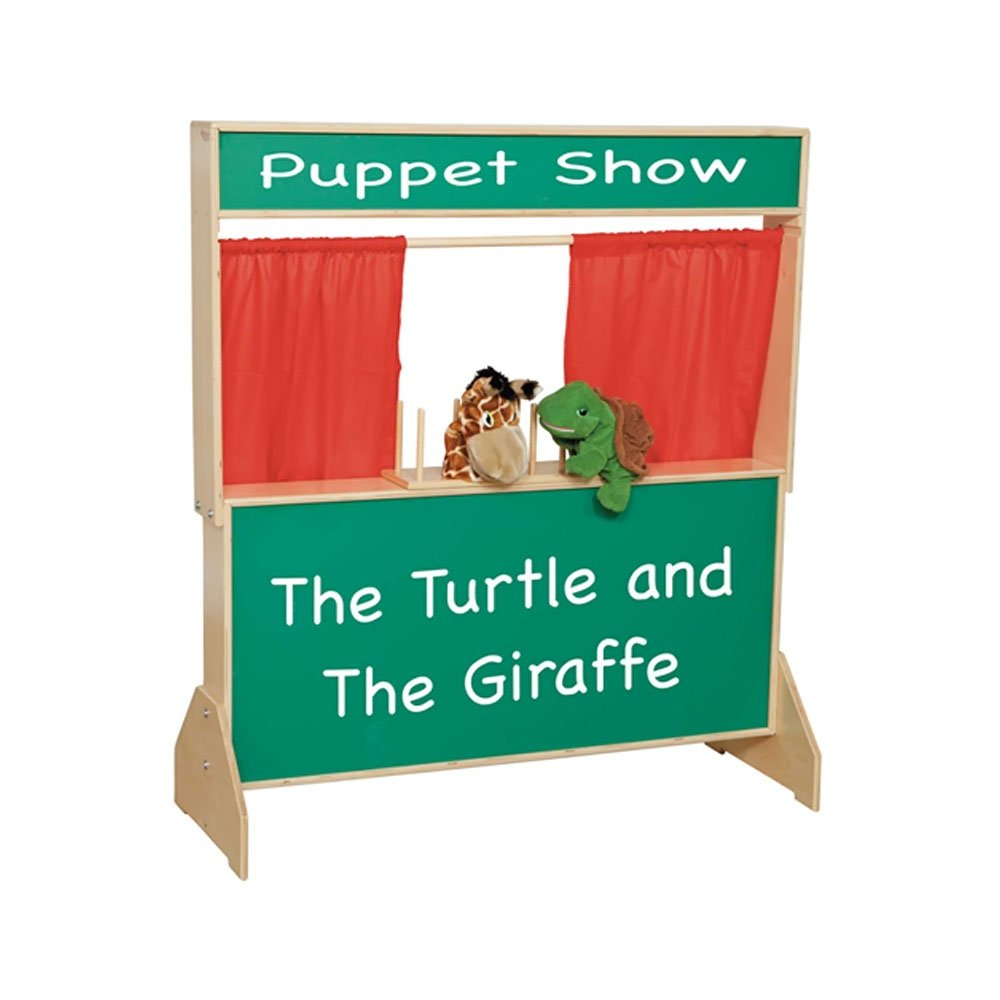 Wood Designs WD21650 Deluxe Puppet Theater with Chalkboard, 48 x 47 x 6'' (H x W x D)