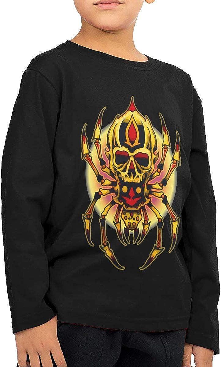 HADYKIDSLOVE Spider Skull Kids T-Shirt Long Sleeve Boys Girls T-Shirt