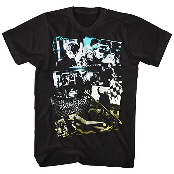 Breakfast Club 80s Teen Movie The Club Group Collage Shirts