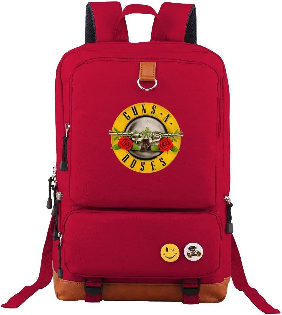 Guns-N-Roses Travel Laptop Backpack Business Slim Durable Computer Bag for Men Women Red
