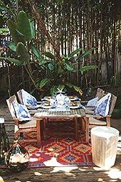 Fab Habitat Lhasa Indoor/Outdoor Rug,  Orange & Violet, (3\' x 5\')