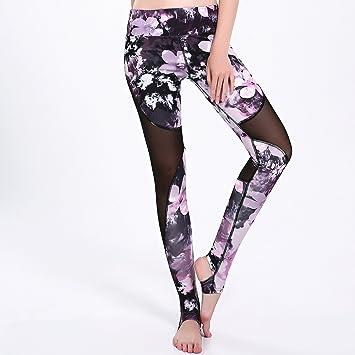 Binbinzhou Pantalones de yoga Sakura Hilados Neto Stitching ...