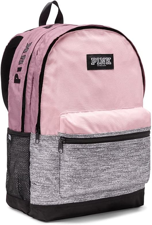 Black Pink Backpack Campus School Bag Casual Backpack Gym Travel Hiking Canvas Backpack Width 12.5 Height 16.5