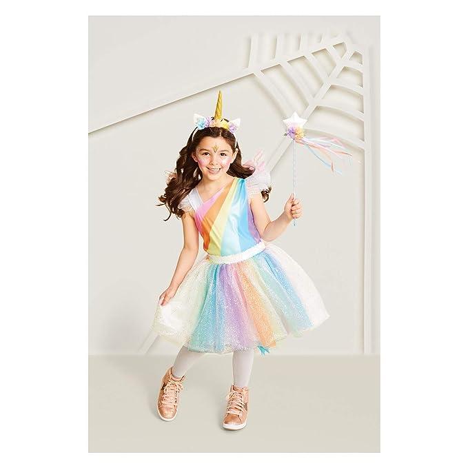 Halloween Costume 4 5.Amazon Com Girl S Rainbow Unicorn Girls Halloween Costume 4t 5t