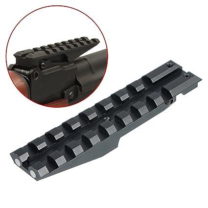 WOLTIS Low Profile AK Rear Sight Rail Picatinny Scope Mount Rail Mount for  Airsoft AK Series Rifles