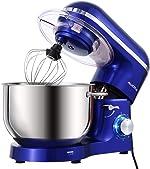 Aucma Stand Mixer,6.5-QT 660W 6-Speed Tilt-Head Food Mixer, Kitchen Electric Mixer