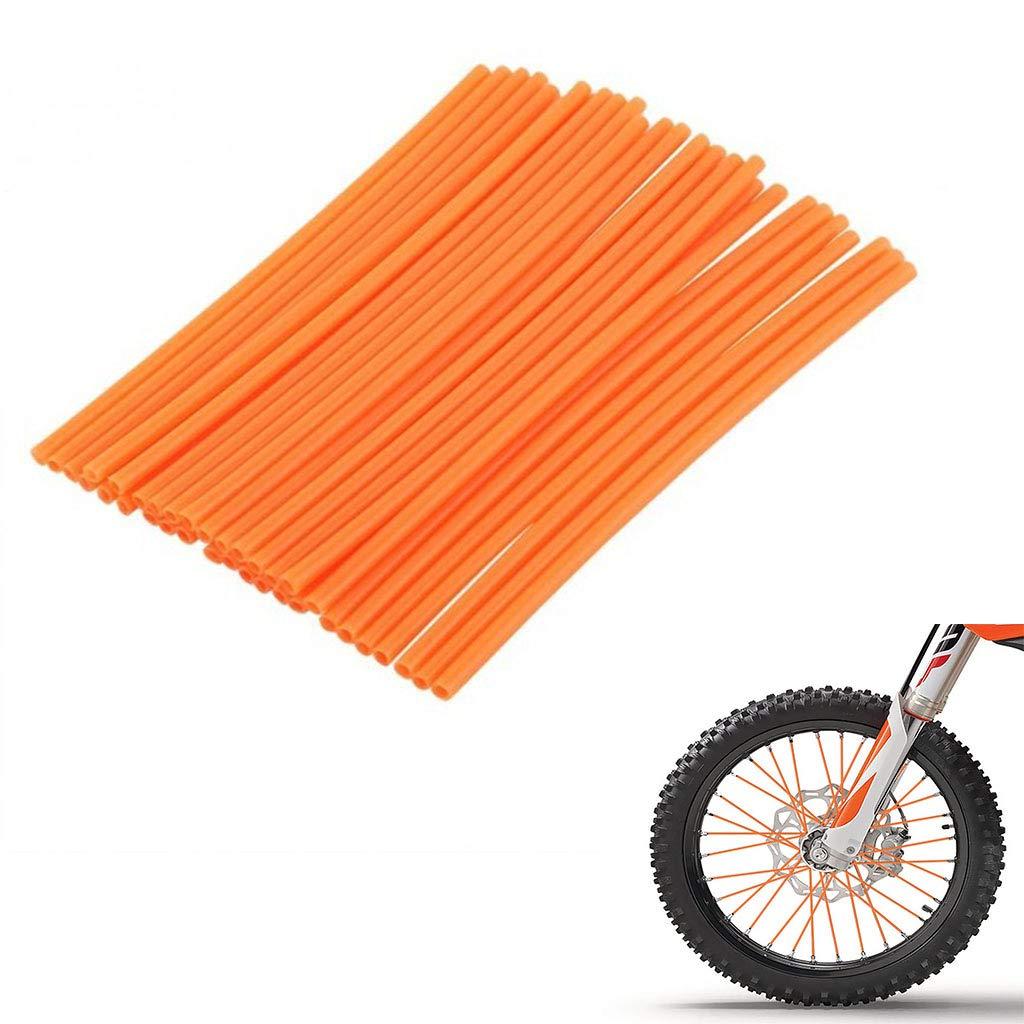 psler 72 PCS Wheel Rim Spoke Skins Covers Trim Wrap Cover Decoration Protector Pipe Motocross Pit Dirt Bike