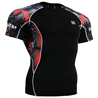 Fixgear Homme Femme Spandex Tight Compression Running Baselayer Shirts