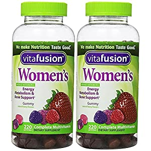 Womens Complete Multivitamin Natural Berry Flavors, 220 Gummies, 2 Pack