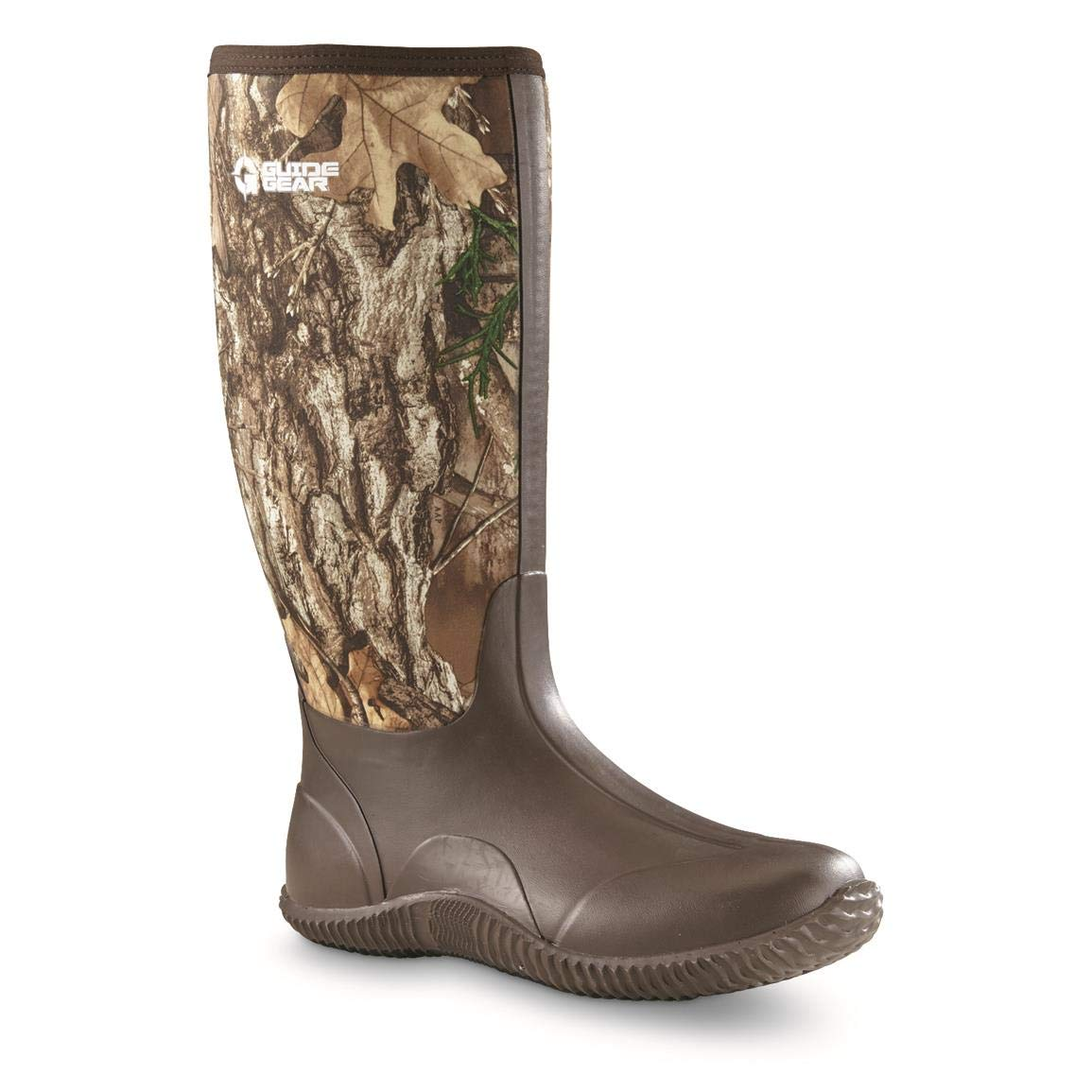 Guide Gear Men's High Camo Bogger Rubber Boots, Realtree Edge, 11D (Medium) by Guide Gear