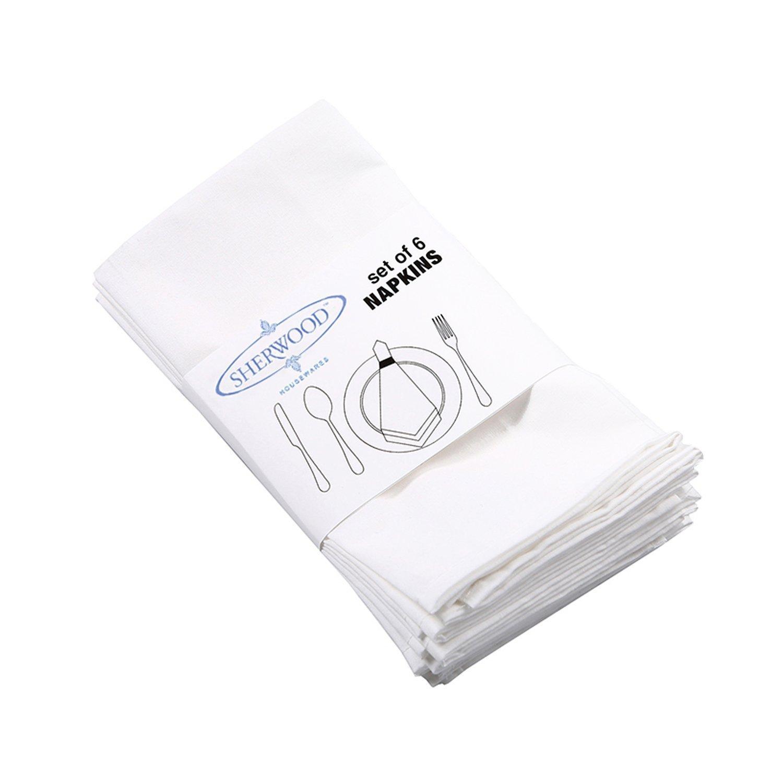 Sherwood 100% cotone tovaglioli da tavola cena panno 38, 1x 38, 1cm (40x 40cm) per hotel wedding party ristoranti home set di 12 White JHT Manufacturing