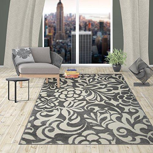 Rectangular Rug Flowers Contemporary (Rugshop Contemporary Flowers Design Area Rug, 7' 10