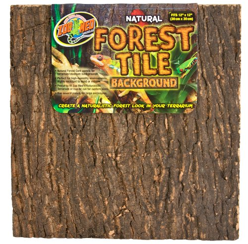 Zoo Med Natural Forest Cork Tile, Small, 12 x 12-Inches by Zoo Med
