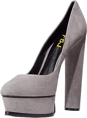 FSJ Women Classic Chunky High Heels
