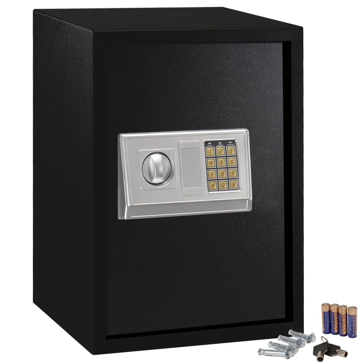 GHP Home Office Hotel Gun Large Digital Electronic Safe Box w Keypad Lock Security