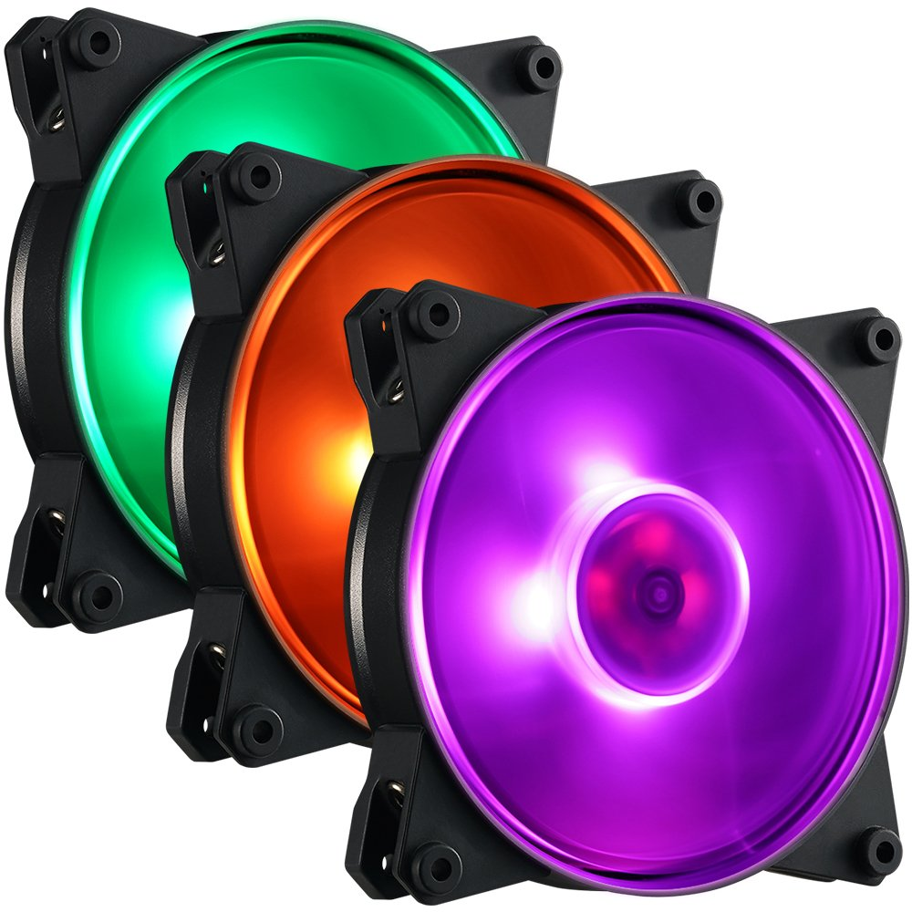 Cooler Master MFY-P2DC-153PC-R1 MasterFan Pro 120 Air Pressure RGB- 120mm Static Pressure RGB Case Fan, 3 in 1 with RGB LED Controller, Computer Cases CPU Coolers and Radiators by Cooler Master (Image #10)