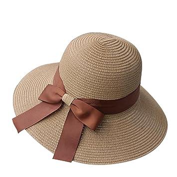officiel de vente chaude répliques Site officiel DaoRier pour Femme d'été Chapeau de Soleil élégant Nœud ...