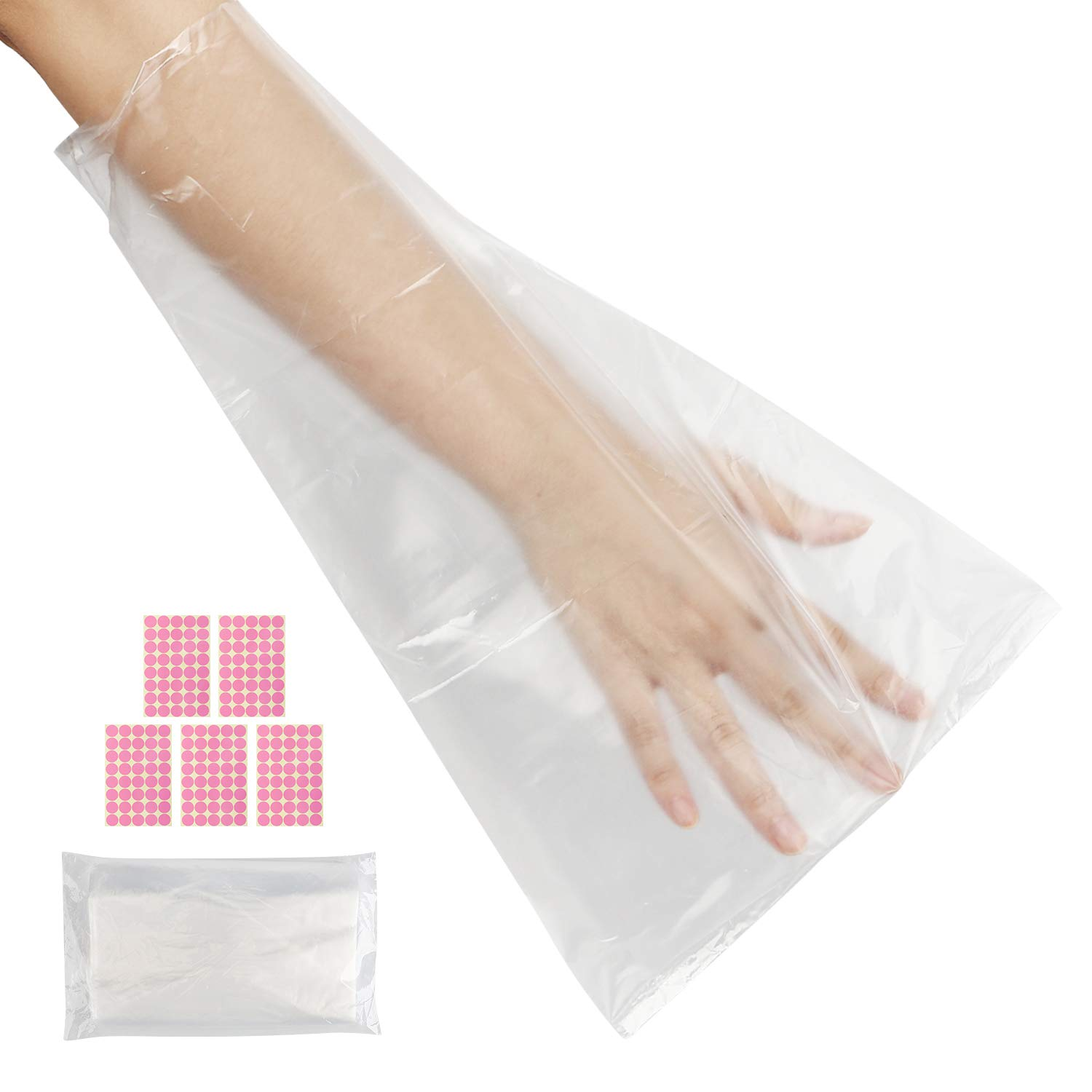 100 Counts Paraffin Wax Bags for Hands & Feet, Segbeauty Plastic Paraffin Wax Liners, Disposable Therapy Wax Refill Sock Glove Paraffin Bath Mitt Cover for Therabath Wax Treatment Paraffin Wax Machine