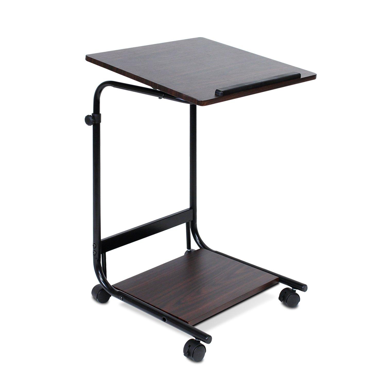 Amazon.com: Furinno FNBL 22090 Boyate Adjustable Rolling Laptop Desk,  Walnut: Kitchen U0026 Dining