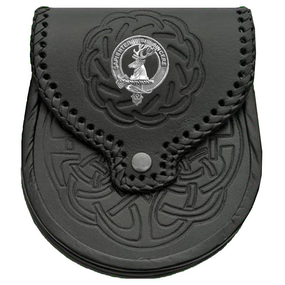 Davidson Scottish Clan Crest Badge Sporran