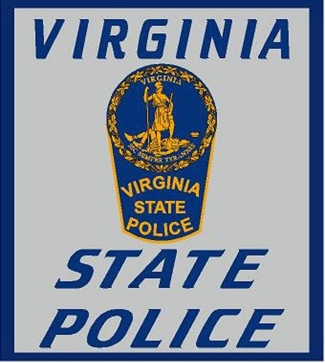 MADI Sticker Virginia State Police Reflective Decal for Car Truck Window USA Stickers