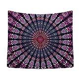 Cozyholy Vintage Mandala Tapestry India hippe Boho wall Hanging Dorm Decor Beach Blanket Bohemian Art Tapestries for Living Room (82x55'')