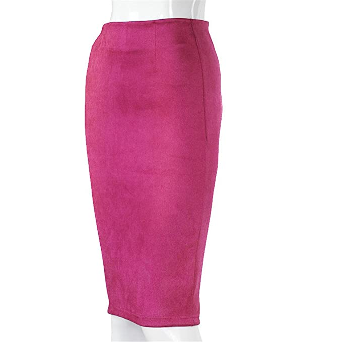 11481081d Women Skirts Suede Pencil Skirt Female Autumn Winter High Waist ...