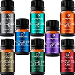 ArtNaturals Signature Blend Essential Oils Set (8 x 10ml) 100% Pure of The Highest Quality Therapeutic Grade Recommended Aromatherapy Gift Set