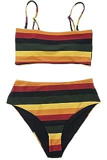 a9b046fc41 Amazon.com: High Waisted Bikini Gingham Vintage Swimsuits for Women ...