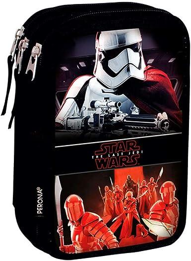 Star Wars Vicious - Plumier de triple compartimento 45 piezas, estuche (Perona 55580): Amazon.es: Ropa y accesorios