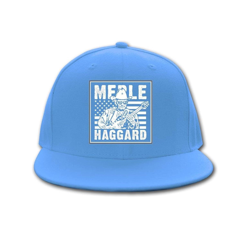 CAQ great merle haggard 2016 logo Opeeda Adjustable Hip Hop Hats Caps Sky blue For Men/Women