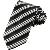 L04BABY Men's Classic 100% Silk Striped Ties Woven JACQUARD Formal Suit Neckties