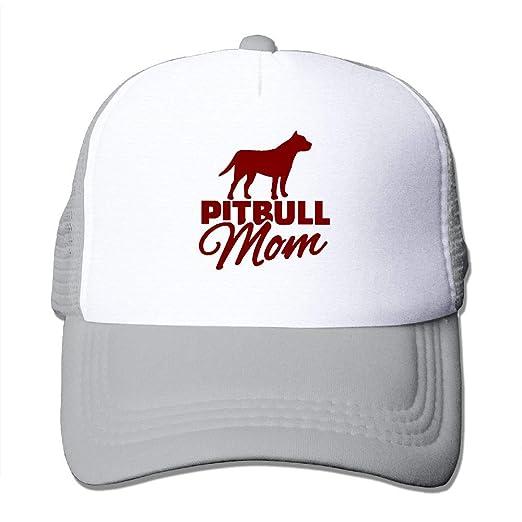 YPDN MU Boys and Girls 100% Polyester Pitbull Mama Mesh Back Trucker Hat f58a18e72d65