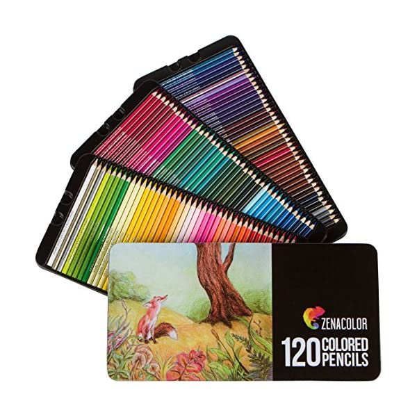 120-Colored-Pencils-Set-Numbered-with-Metal-Box-120-Coloring-Pencils-for-Adult-Coloring-Books-Colored-Pencils-for-Adults-and-for-Kids-Gift-for-Artists