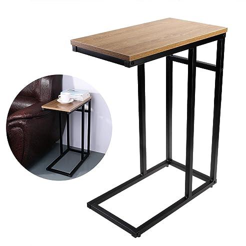 OULII Sofa-Beistelltisch in Holzoptik aus Stahl, C-Tisch: Amazon ...