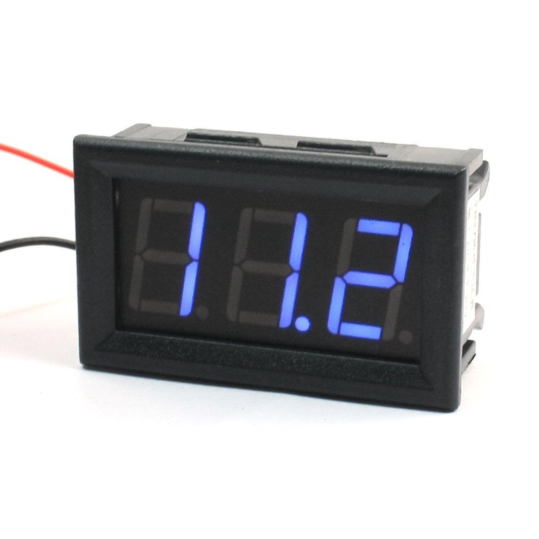 Dimart Panel Mount Blue LED Display Voltage Meter Voltmeter DC4.5-30V