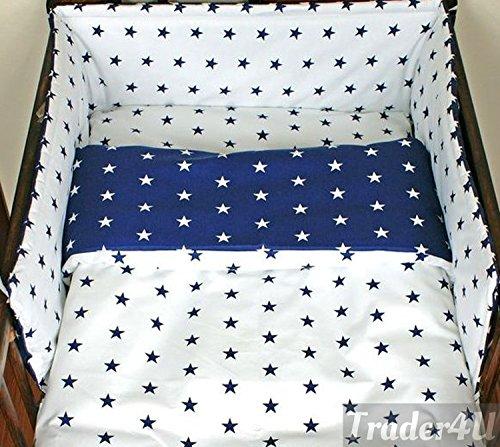 All-Round Bumper 3 Pcs Nursery Bedding Set Fits Cot Bed 140x70 cm, Pattern 24
