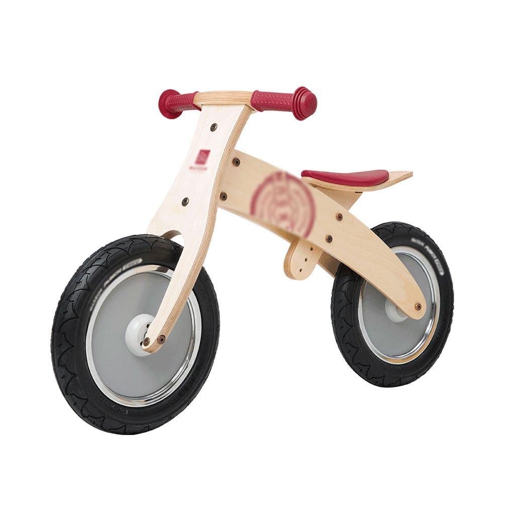 いいえペダル2輪のスクーターベビースクーター子供のスクーターペダルなしバギー子供ダブルホイール自転車2ラウンドバランス車の木2-6歳 B07F57FWH8 ナチュラル ナチュラル