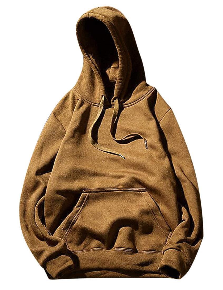 Zantt Mens Basic Drawstring Pocket Pullover Hoodie Sweatshirt
